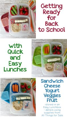 Easy Lunches for Back to School with @EasyLunchboxes container and @CuteZcute food cutter