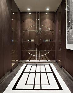 Art Deco Interiors by Blainey North & Associates Lobby Design, Main Door Design, Gate Design, Luxury Interior Design, Interior Exterior, Interiores Art Deco, North Design, Hotel Door, Unique Doors