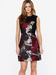 Teatro Rose Jacquard Occasion Dress
