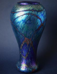 Richard Golding Station Glass Blue Vase with Folded Rim http://www.bwthornton.co.uk/isle-of-wight-richard-golding-bath-aqua-glass.php