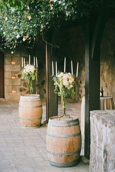 Wine barrels: http://www.stylemepretty.com/little-black-book-blog/2015/03/31/elegant-saint-helena-vineyard-wedding/ | Photography: Onelove - http://www.onelove-photo.com/