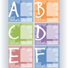 All 26 letters presented in a two-tone color design. Images and words can be added for an attractive presentation - simply copy & paste and type as a PowerPoint slide. They can also be printed out for students to write and draw on. The possibilities are endless with these fun visual displays.