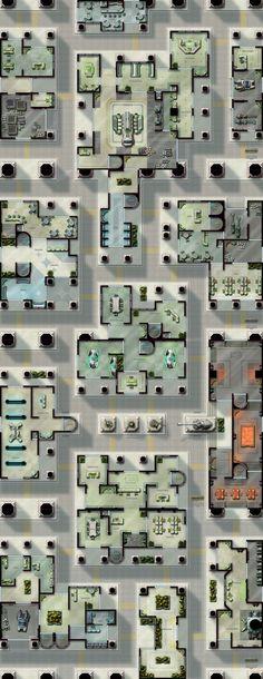 """Capital City"" sci-fi map pack."