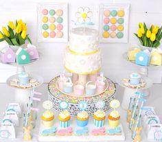 Sweet table : Pâques couleurs pastel