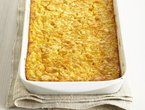 Corn Pudding. I make it without the cheese. Cuts calories and fat and is more like the traditional corn pudding I am familiar with.