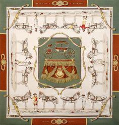 luxury-scarves.com 'Harnais à l'Anglais', Hugo Grygkar. 1955