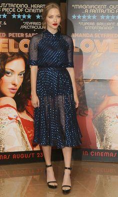 Amanda Seyfried in Gucci dress at Lovelace screening in London