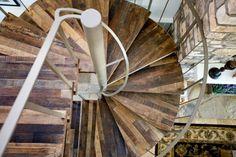 engineered floor circular staircase