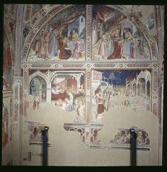 Spinello Aretino - Storie di Santa Caterina d'Alessandria - affresco - 1348-1387 - Oratorio di Santa Caterina delle Ruote - Bagno a Ripoli (Firenze)