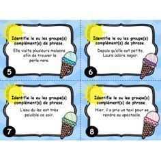 Cartes à tâches : Le groupe complément de phrase Classroom Arrangement, French Resources, French Immersion, Cycle 3, Kids Learning, Elementary Schools, Teaching, Activities, Education