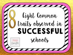 Does your school have these eight successful traits? If not, how can you help get there?