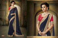 Fancy Designer saree with elegant border  in vibrant blue.  whatsapp / call / viber 919884034418  An exclusive collection of Fancy Designer saree with elegant border from the house of Gautam Marketing. These sarees are a must have wardrobe collection and can be used for all occasions. These designs are exclusively crafted to bring the inner beauty of the women who adores our collection. --> For more updates follow us on ==>> Facebook - http://ift.tt/1THaNbJ ==>> Twitter - @gmsarees…