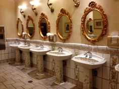 Paris Hotel Las Vegas, this was one of the most beautiful bathrooms I was ever in.