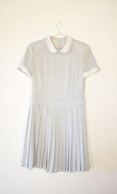 Vintage Pastel Blue River Peter Pan Collar Dress by wewerewarriors, $70.00