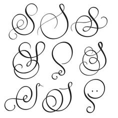 set of art calligraphy letter S with flourish of vintage decorative whorls. Vect… Set of art calligraphy letter S with flourishes Vintage decorative. Tattoo Lettering Fonts, Hand Lettering Alphabet, Lettering Styles, Lettering Design, Lettering Tutorial, Letter S Designs, Calligraphy Fonts Alphabet, Penmanship, Calligraphy Letters Design