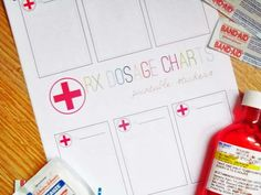 The House on Hillbrook: QUICK PRINT: FREE Rx Dosage Chart Stickers
