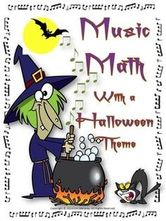 Music Math with a Halloween Theme.   24 Halloween themed music worksheets aimed at reinforcing students' understanding and knowledge of note and rest values.  ♫ CLICK through to preview or save for later!  ♫