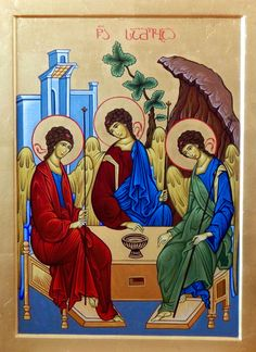 Holy Trinity by Shota Tsintsadze Tamuna Javaxishvili of Georgia