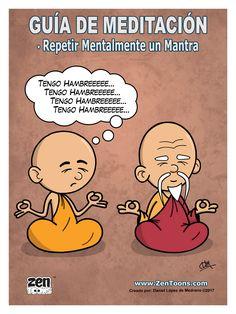 AFICHE ZENTOONS 08. Guía de Meditación. #zentoons #webcomics #zencomics #cuentoszen #historiaszen #zenpencil #espiritualidad #zen #budismo