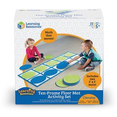 Teach the foundational concept of 10 with this Learning Resources Ten-Frame Floor Mat Activity Set. Teaching Math, Math Activities, Preschool Activities, Math Worksheets, New Classroom, Kindergarten Classroom, Classroom Ideas, Learning Resources, Kids Learning