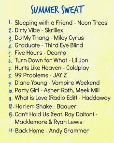 Summer Sweat Playlist from Hungry Gator Gal