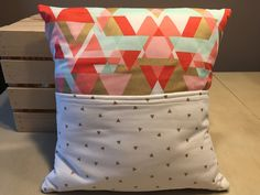 Modern Shapes Pocket Pillow by thescrappyquilter22 on Etsy