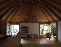 House in Sumiyoshi 2015|住吉の家 堀部安嗣 Interior Architecture, Wood, Outdoor Decor, House, Inspiration, Scrap, Ceiling, Construction, Home Decor
