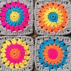 Transcendent Crochet a Solid Granny Square Ideas. Inconceivable Crochet a Solid Granny Square Ideas. Crochet Blocks, Granny Square Crochet Pattern, Crochet Squares, Crochet Granny, Crochet Motif, Granny Squares, Knit Crochet, Crochet Patterns, Crochet Ideas