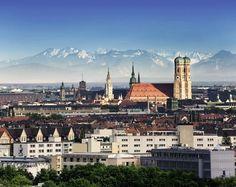 Alpenpanorame und München