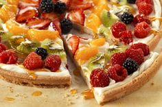 Fruit Pizza yes you can eat this for breakfast.