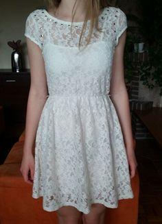 Kup mój przedmiot na #Vinted http://www.vinted.pl/kobiety/krotkie-sukienki/9644891-letnia-koronkowa-bezowa-sukienka-reserved