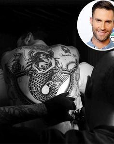 Adam Levine tat by Bryan Randolph from Spider Murphy's Tattoo in San Rafael, CA Adam Levine, Baby Tattoos, Hot Tattoos, Tatoos, Maroon 5, Picture Tattoos, Tattoo Photos, Tattoo 2015, Tattoo Project