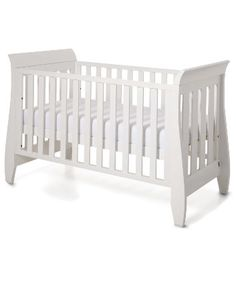 Boori Urbane Sleigh 3 in 1 Cot Bed - White