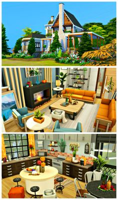 Sims 4 House Plans, Sims 4 House Building, Sims 4 House Design, Tiny House Design, Sims 4 Game Mods, Sims 4 Mods, Sims 4 Kitchen, Casas The Sims 4, Sims 4 Build