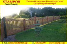 drewniane przęsła ogrodzeniowe, drewniane płoty, drewniane ogrodzenie, producent