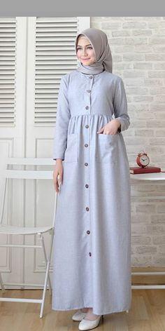 Frock Fashion, Abaya Fashion, Fashion Dresses, Hijab Style Dress, Casual Hijab Outfit, Hijab Chic, Mode Abaya, Mode Hijab, Moslem Fashion