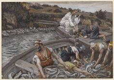 James Tissot-- La pêche miraculeuse, 1886-'96