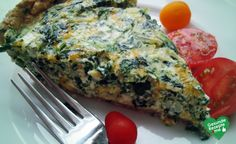 Spinat-Quiche, low carb Diät rezept