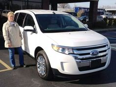 Congratulations to Elizabeth and Darrell Pinkston from Lawrenceburg on their new Ford Edge!  We appreciate the patronage from these customers of Kenny Stratton's from his old Countryside Motors days in Lawrenceburg!  Elizabeth traded in a black 2013 Ford Fusion with only 9,900 miles.  We're so happy to have you as part of the Stuart Powell family of satisfied customers!