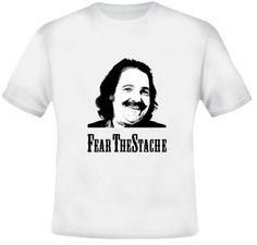 Fear The Stache Ron Jeremy Porn Star Funny White TShirt