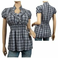 Cute tops in larger sizes…   Riquee.