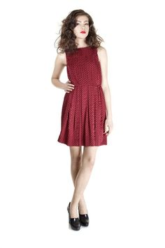 Minetta Print Sleeveless Dress