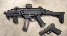 The CZ Scorpion in standard SBR mode, with a holosun red dot, a SICO direct thread adapter, and a BCM vertical foregrip. It's about to get a major overhaul with tons of new mods. I can't wait to have it back from the shop. Once the mods are done I will post new after pics! #nfa #custom #556 #9mm #ar15 #ar15build #marines #airforce #arsenal #firearms #guns #pdw #security #usa #vip #guns #sbr #blackops2 #army #czscorpion #cz #2a #weapons #gunstagram #gunsdaily #gunsofig #gunporn #gunpics…