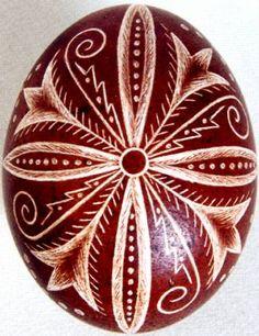 Karcolt tojás - Scratch-carved egg (27)