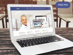Company Portfolio Website Template PSD