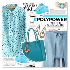 """""""What's Your Power Outfit?"""" by vanjazivadinovic ❤ liked on Polyvore featuring Anja, Converse, sammydress, polyvoreeditorial, Poyvore, PolyPower and zaful"""