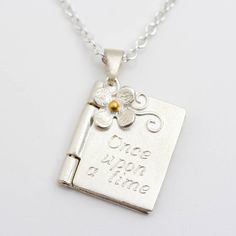 once upon a time personalised book locket by carole allen silver jewellery | notonthehighstreet.com