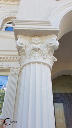 Proiect Casa Rezidentiala zona Podul Grant, Bucuresti – Profile Decorative Classic House Design, Design Case, Windows And Doors, One Shoulder Wedding Dress, Marriage, Wedding Dresses, Profile, Concrete, Architecture