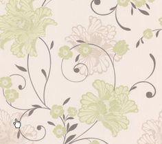 Laurence Llewelyn-Bowen Taffetia Spring Green Floral Wallpaper - B&Q for all your home and garden supplies and advice on all the latest DIY trends