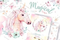 64 Super Ideas birthday card illustration graphics little girls Unicorn Illustration, Butterfly Illustration, Graphic Illustration, Illustrations, Big Unicorn, Unicorn Art, Magical Unicorn, Unicorns, Peace Art